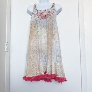 NWT Antica Sartoria Lace Boho Dress/Tunic/Coverup